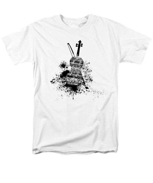 Inked Violin Men's T-Shirt  (Regular Fit) by Barbara St Jean