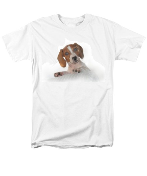 Men's T-Shirt  (Regular Fit) featuring the photograph Inquisitive Dachshund by David and Carol Kelly