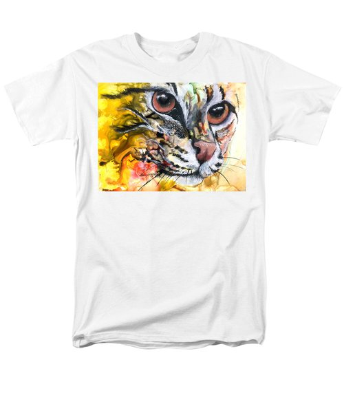 Men's T-Shirt  (Regular Fit) featuring the painting Intensity by Sherry Shipley