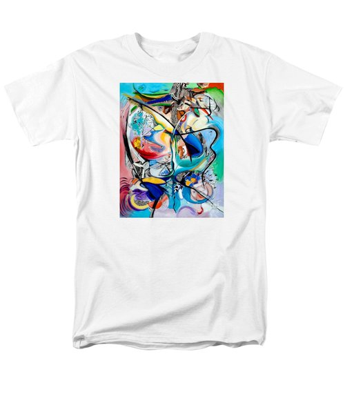 Men's T-Shirt  (Regular Fit) featuring the painting Intimate Glimpses - Journey Of Life by Kerryn Madsen-Pietsch