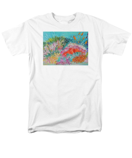 Men's T-Shirt  (Regular Fit) featuring the painting Feeding Time # 3 by Lyn Olsen