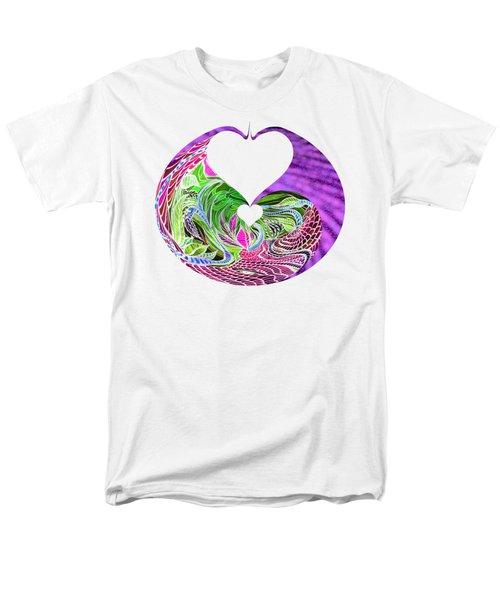 Invert Hearts Men's T-Shirt  (Regular Fit) by Adria Trail