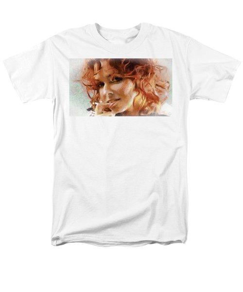 Men's T-Shirt  (Regular Fit) featuring the digital art Inviting Smile by Gun Legler