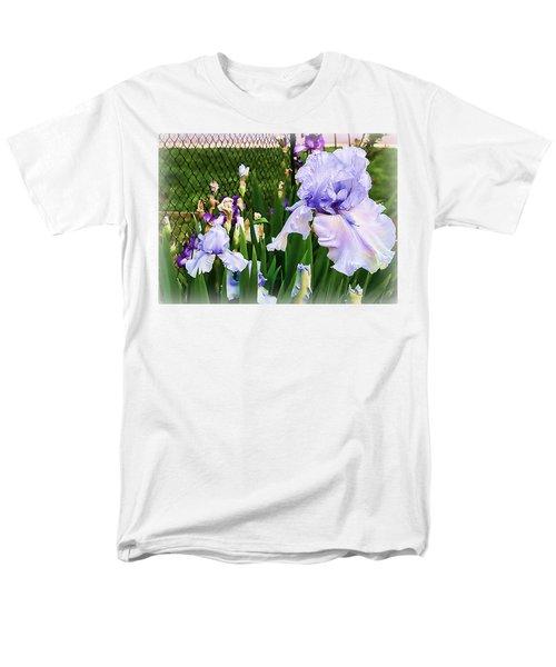 Iris At Fence Men's T-Shirt  (Regular Fit) by Larry Bishop