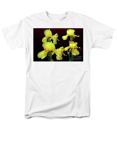 Irises Yellow Men's T-Shirt  (Regular Fit) by Jasna Dragun