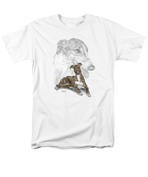 Irresistible - Greyhound Dog Print Color Tinted Men's T-Shirt  (Regular Fit) by Kelli Swan