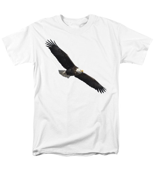 Men's T-Shirt  (Regular Fit) featuring the photograph Isolated American Bald Eagle 2016-2 by Thomas Young