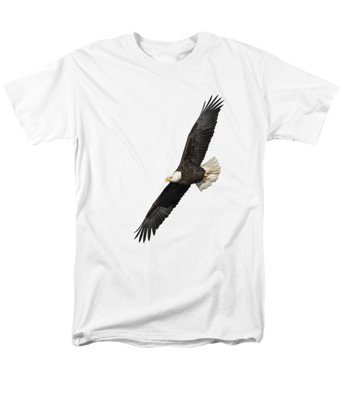 Men's T-Shirt  (Regular Fit) featuring the photograph Isolated American Bald Eagle 2016-3 by Thomas Young
