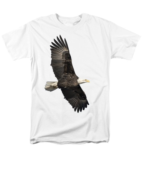 Men's T-Shirt  (Regular Fit) featuring the photograph Isolated American Bald Eagle 2016-4 by Thomas Young