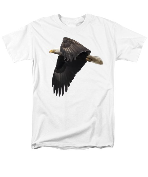 Men's T-Shirt  (Regular Fit) featuring the photograph Isolated American Bald Eagle 2016-6 by Thomas Young