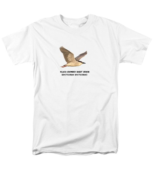 Isolated Black-crowned Night Heron 2017-6 Men's T-Shirt  (Regular Fit) by Thomas Young