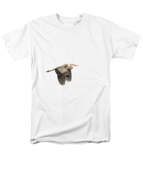 Isolated Great Blue Heron 2015-5 Men's T-Shirt  (Regular Fit) by Thomas Young