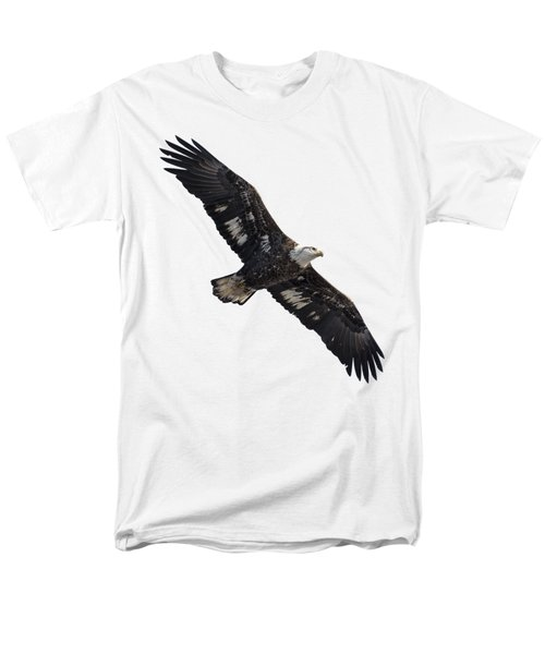 Men's T-Shirt  (Regular Fit) featuring the photograph Isolated Juvenile American Bald Eagle 2016-1 by Thomas Young