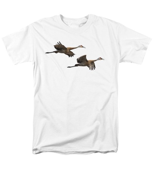 Men's T-Shirt  (Regular Fit) featuring the photograph Isolated Sandhill Cranes 2016-1 by Thomas Young