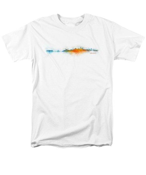 Istanbul City Skyline Hq V03 Men's T-Shirt  (Regular Fit)