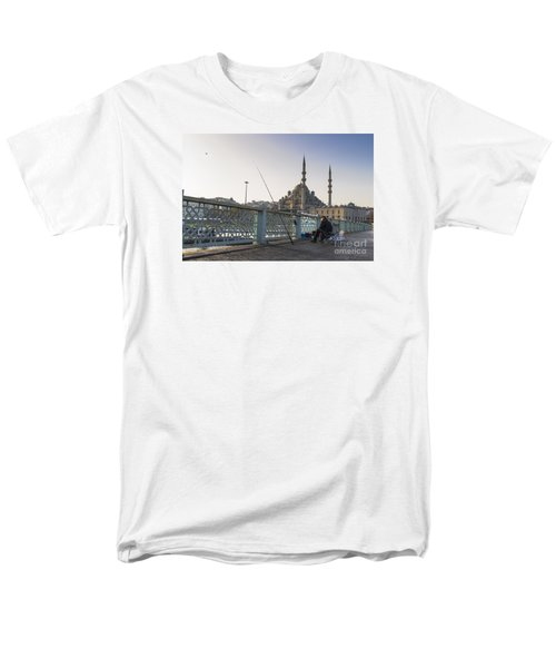 Men's T-Shirt  (Regular Fit) featuring the photograph Istanbul From The Galata Bridge by Yuri Santin