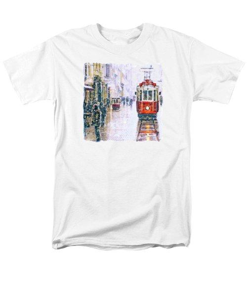 Istanbul Nostalgic Tramway Men's T-Shirt  (Regular Fit)