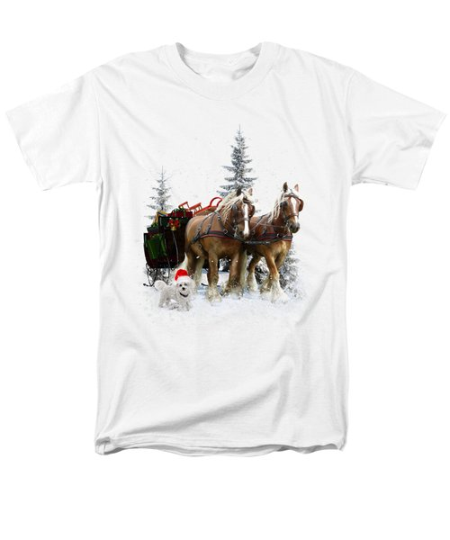 Men's T-Shirt  (Regular Fit) featuring the painting A Christmas Wish by Shanina Conway