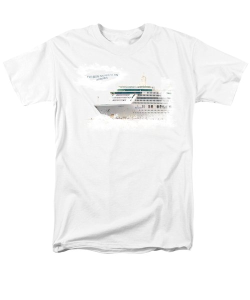 I've Been Nauticle On Aurora On Transparent Background Men's T-Shirt  (Regular Fit) by Terri Waters