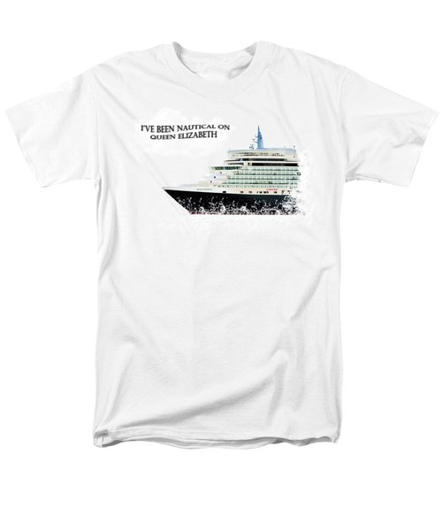 I've Been Nauticle On Queen Elizabeth On Transparent Background Men's T-Shirt  (Regular Fit) by Terri Waters