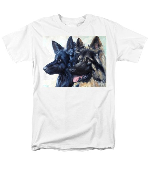 Men's T-Shirt  (Regular Fit) featuring the painting Jake And Shiloh by Diane Daigle
