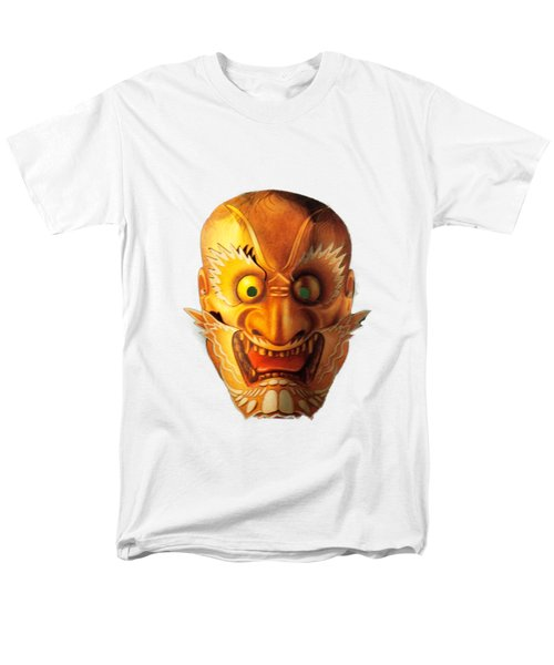 Men's T-Shirt  (Regular Fit) featuring the photograph Japanese Mask Cutout by Linda Phelps