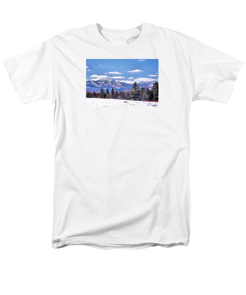 Men's T-Shirt  (Regular Fit) featuring the digital art Jay Peak by John Selmer Sr