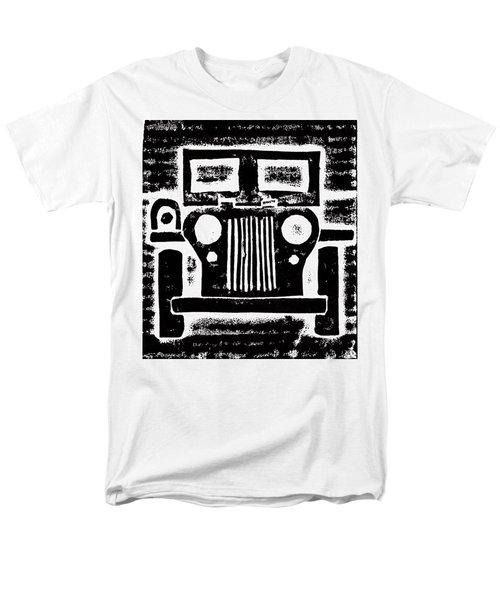 Men's T-Shirt  (Regular Fit) featuring the mixed media Jeep by Jame Hayes