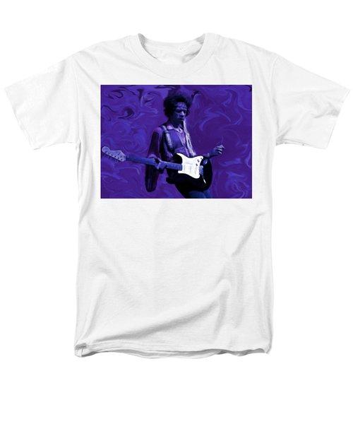Men's T-Shirt  (Regular Fit) featuring the painting Jimi Hendrix Purple Haze P D P by David Dehner