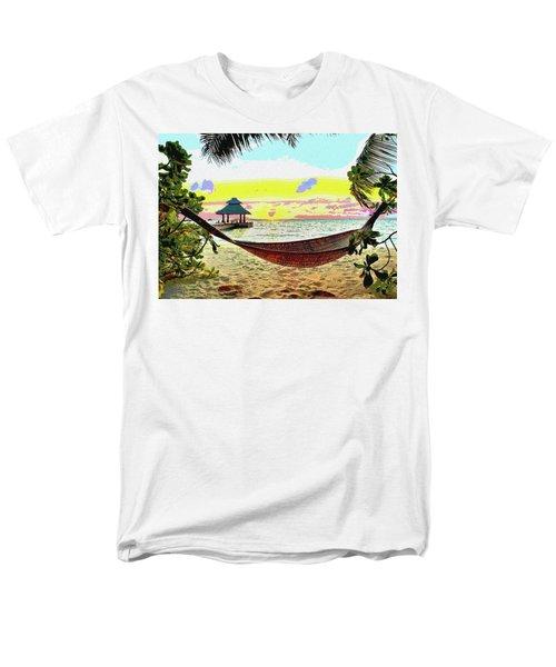 Jimmy Buffett's Margaritaville Men's T-Shirt  (Regular Fit) by Charles Shoup