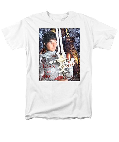 Joan Of Arc Poster 2 Men's T-Shirt  (Regular Fit) by Suzanne Silvir
