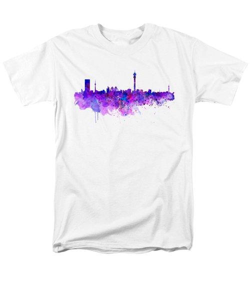 Johannesburg Skyline Men's T-Shirt  (Regular Fit) by Marian Voicu