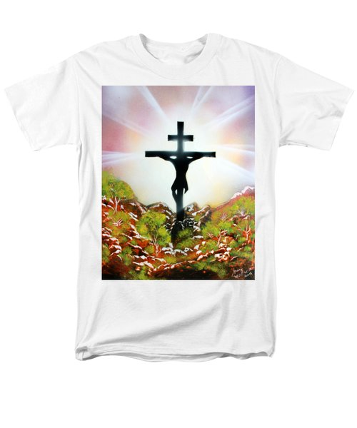 Men's T-Shirt  (Regular Fit) featuring the painting John Three Sixteen by Greg Moores