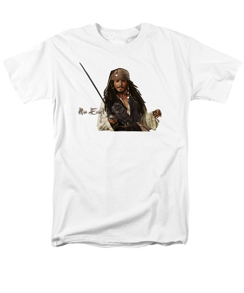 Johnny Depp, Pirates Of The Caribbean Men's T-Shirt  (Regular Fit) by iMia dEsigN