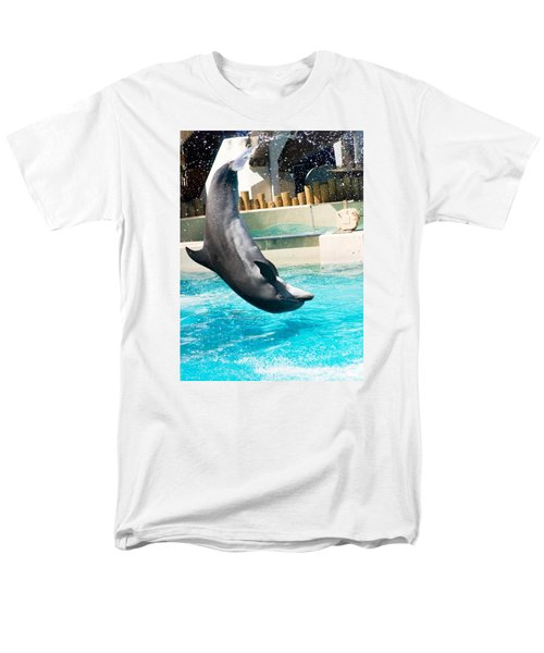 Men's T-Shirt  (Regular Fit) featuring the photograph Jumping Dolphin by Bob Pardue