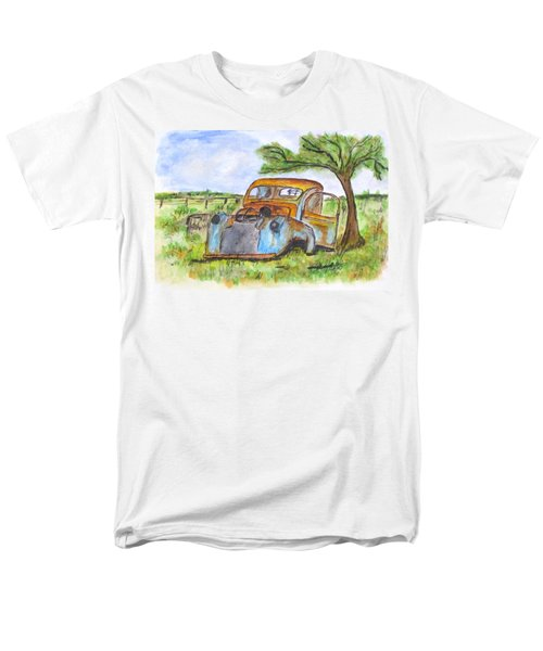 Junk Car And Tree Men's T-Shirt  (Regular Fit) by Clyde J Kell