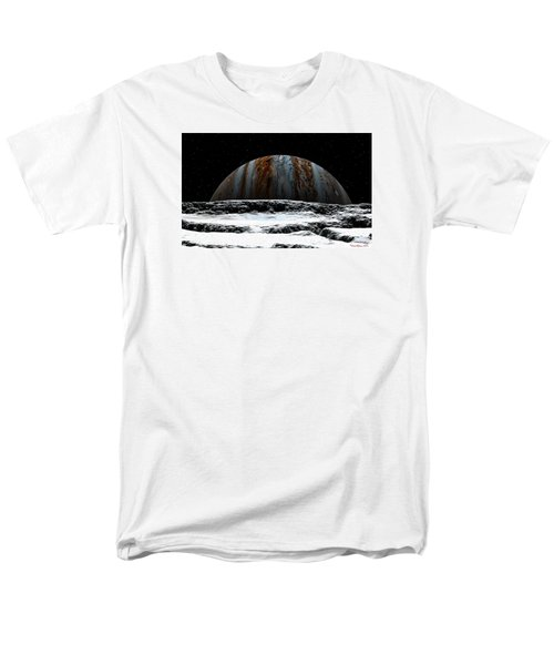 Jupiter Rise At Europa Men's T-Shirt  (Regular Fit) by David Robinson