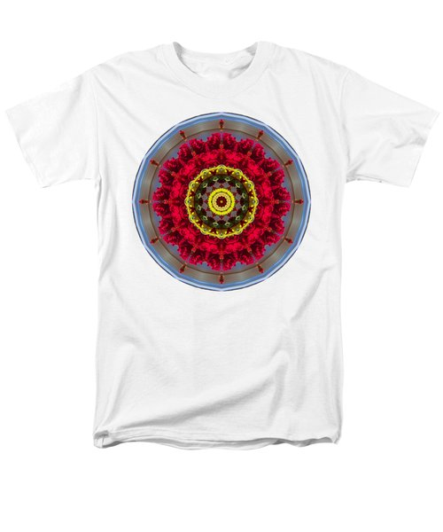 Men's T-Shirt  (Regular Fit) featuring the photograph Kaleidos - Nantucket Rose01 by Jack Torcello