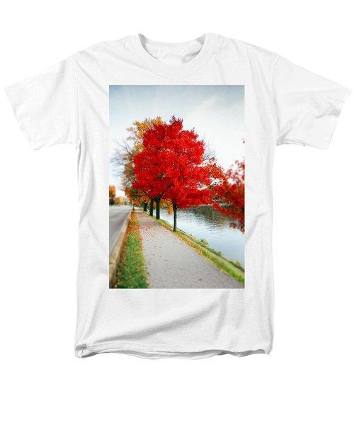 Kanawha Boulevard In Autumn Men's T-Shirt  (Regular Fit)