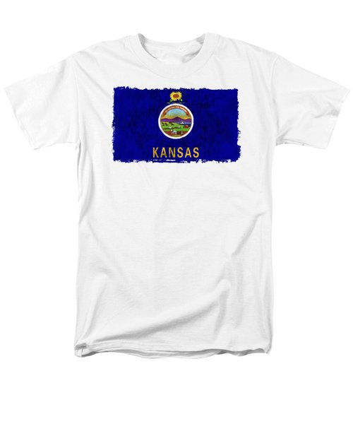 Kansas Flag Men's T-Shirt  (Regular Fit) by World Art Prints And Designs