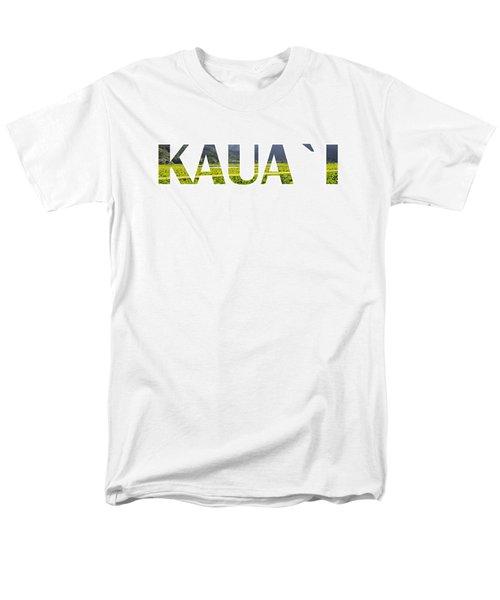 Kauai Letter Art Men's T-Shirt  (Regular Fit) by Saya Studios