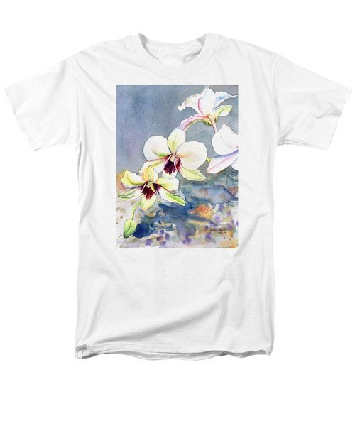 Kauai Orchid Festival Men's T-Shirt  (Regular Fit) by Marionette Taboniar