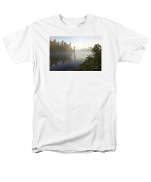 Men's T-Shirt  (Regular Fit) featuring the photograph Kawishiwi Morning Fog by Larry Ricker