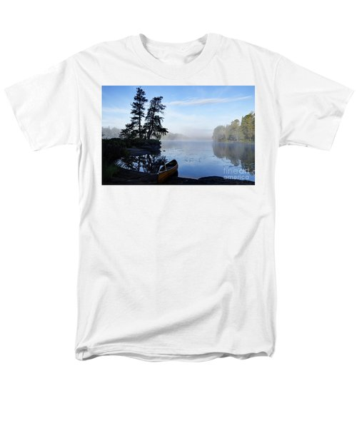 Men's T-Shirt  (Regular Fit) featuring the photograph Kawishiwi Morning by Larry Ricker
