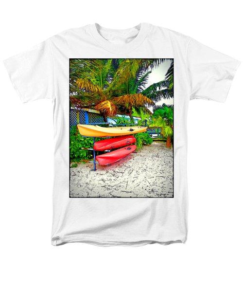 Kayaks In Paradise Men's T-Shirt  (Regular Fit) by Joan  Minchak
