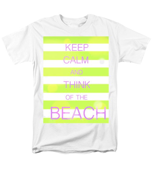 Keep Calm And Think Of The Beach Men's T-Shirt  (Regular Fit) by Anthony Fishburne