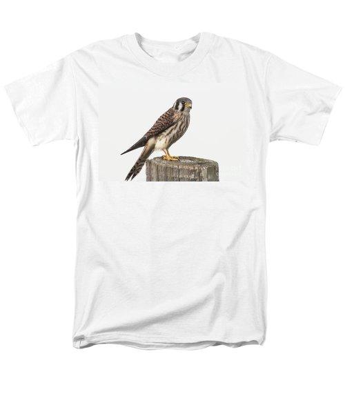 Men's T-Shirt  (Regular Fit) featuring the photograph Kestrel Portrait by Robert Frederick