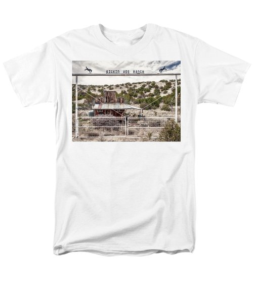 Kickin Ass Ranch Men's T-Shirt  (Regular Fit) by Robert FERD Frank