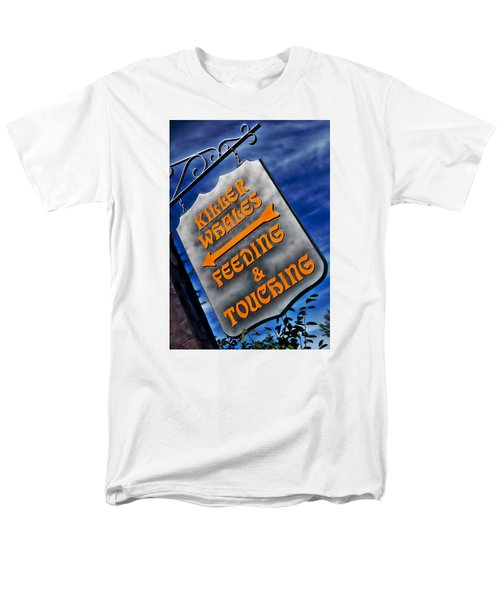 Men's T-Shirt  (Regular Fit) featuring the photograph Killer Whales Sign by Bob Pardue