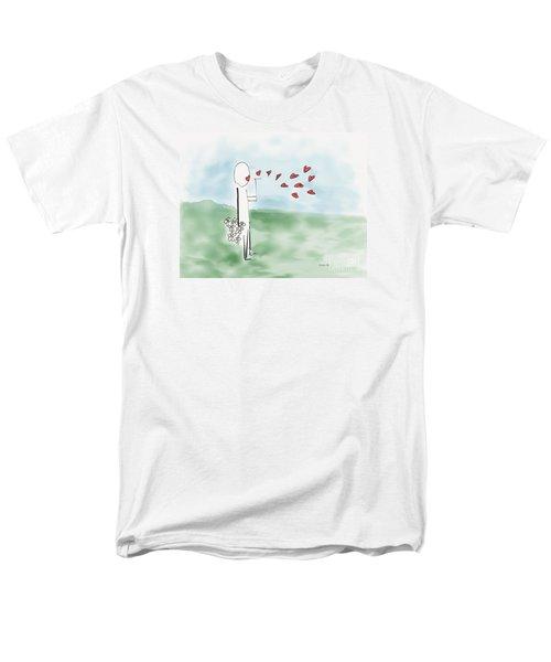 Kisses And Love   Men's T-Shirt  (Regular Fit) by Haleh Mahbod